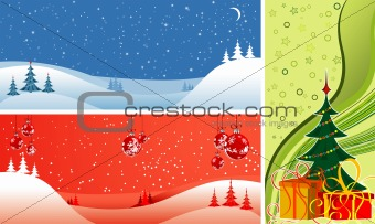 Abstract Christmas backgrounds