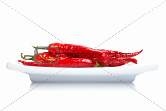 Red peppers in the dish