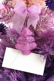 Christmas tree / Blank Greeting Card