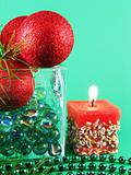 christmas ornamentation with candle