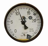 Rusty manometer isolated