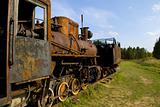 Old rusty steam train