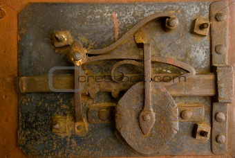 Old door lock
