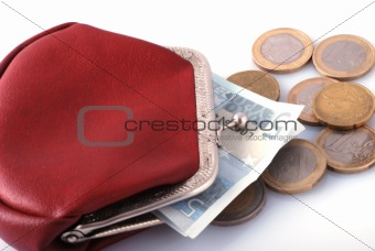 old wallet and changes