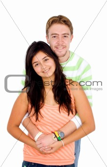 couple of young people portrait