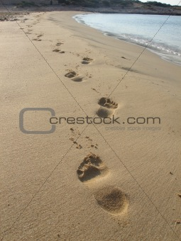 beautiful footprints