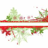Christmas tree, winter background, vector