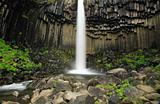 Basalt columns, Svartifoss waterfall