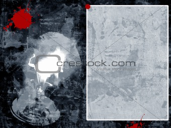 Grunge border and background