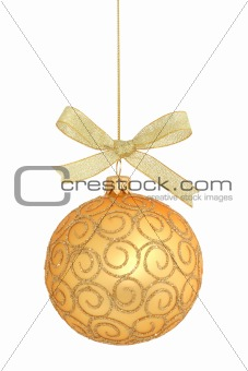 Christmas ball isolated / with clipping path