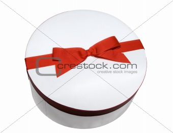 Round gift red labeled