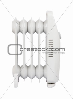 small electric heater with clipping path