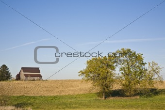 Old Barn in the Fields