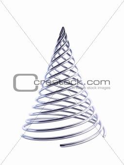 3d symbolic Christmas tree