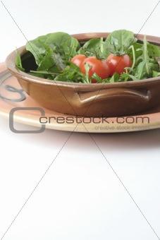 Green salad and Ceramic bowls