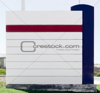 Blank Sign In With Blue And Red