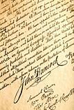 John Hancock on declaration of independence