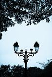 Street lamp in a park