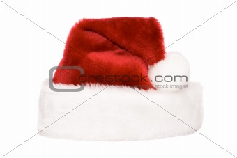 Santa's hat isolated on white