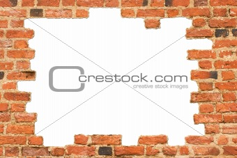 Brick wall of an old castle