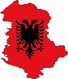 Map Albania- Vector