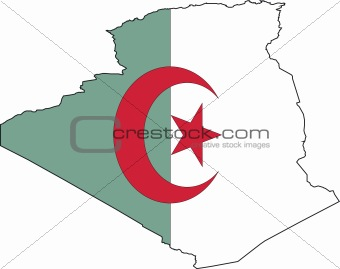 Map Algeria- Vector