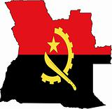 Map Angola- Vector