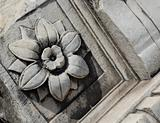 Carved stone flower