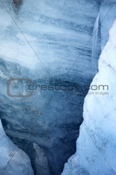 Layers of blue ice