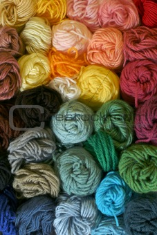 Skeins of Yarn - Vertical