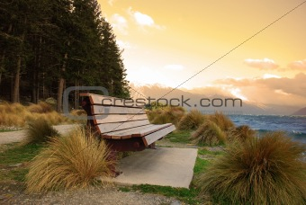 Bench on Landscape