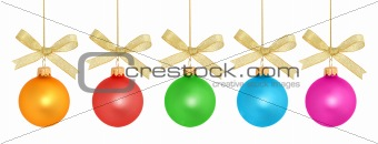 Christmas Ball Series / isolated / with clipping path