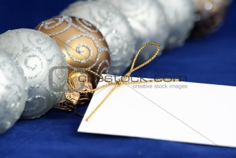 Christmas Ornaments / Balls / With Blank Card