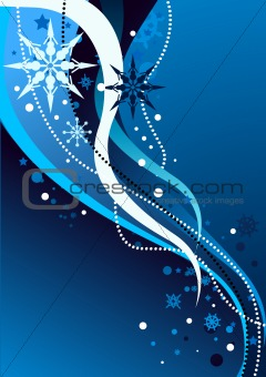 Winter Abstract Illustration