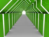 3d house tunnel green