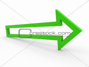 3d arrow green way