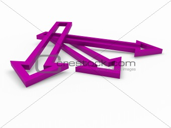 3d arrow purple