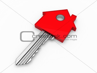 3d key home house red