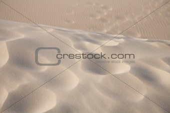 footsteps texture on sand