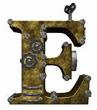 steampunk letter e