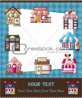 house / shop card