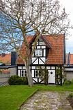 old house in Visby city at Gotland, Sweden