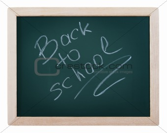 Blackboard with text