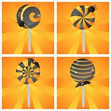 halloween lollipops backgrounds