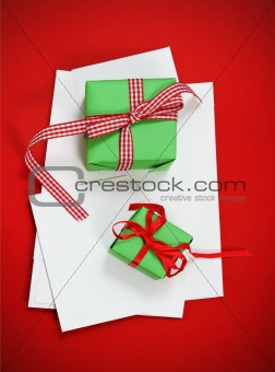 Christmas cards with Christmas presents
