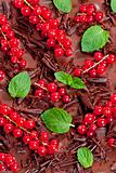 red currant and mint with chocolate
