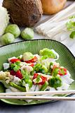 Asian vegetables on coconut milk