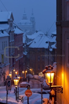 Prague in winter, Czech Republic