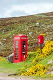 telephone booth and letter box near Laid, Scotland
