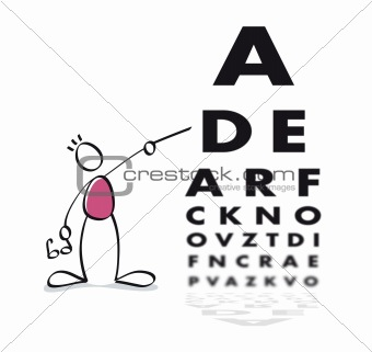 Funny vision test